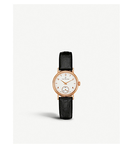 CARL F BUCHERER 00.10306.03.26.01 Adamavi rose-gold sapphire crystal and leather watch