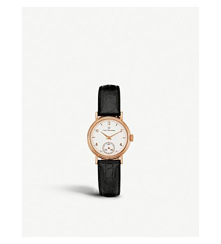 CARL F BUCHERER 00.10306.03.26.01 Adamavi rose-gold sapphire crystal and leather watch