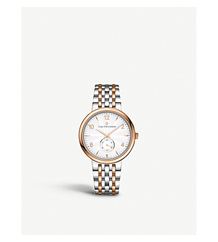 CARL F BUCHERER 00.10316.07.26.21 Adamavi Stainless steel rose-gold sapphire crystal watch
