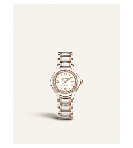 CARL F BUCHERER 00.10580.07.25.31.01 Pathos Diva stainless steel rose-gold, sapphire crystal, mother-of-pearl watch