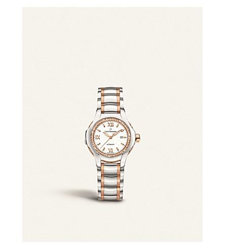 CARL F BUCHERER 00.10580.07.25.31.01 悲怆 Diva 不锈钢玫瑰金、 蓝宝石水晶、 珍珠母的手表