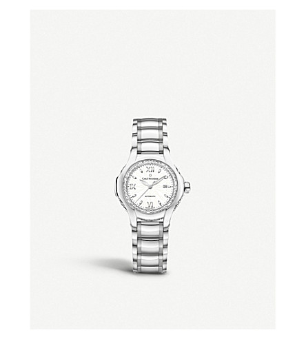 CARL F BUCHERER 00.10580.08.23.31.02 Pathos Diva stainless steel diamonds and sapphire crystal watch