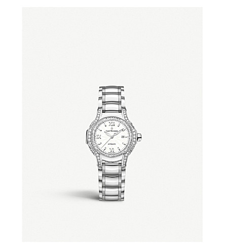 CARL F BUCHERER 00.10580.08.25.31.01 Pathos Diva mother-of-pearl diamonds and sapphire crystal watch