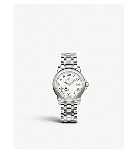CARL F BUCHERER 00.10616.08.21.21 Petravi AutoDate Power automatic stainless steel watch