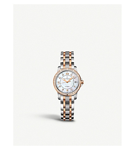 CARL F BUCHERER Stainless Steel and Rose-Gold Diamond watch