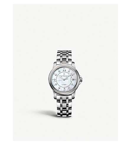 CARL F BUCHERER Stainless steel diamond watch