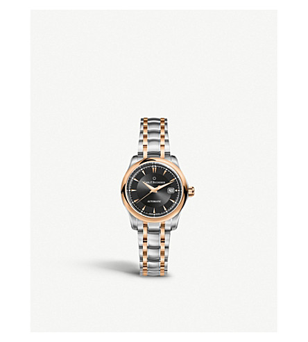 CARL F BUCHERER Stainless steel and rose gold watch