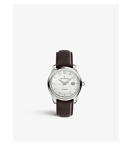 卡尔 F BUCHERER 00.10915.08.13,01 Manero Autodate 不锈钢和鳄鱼皮手表