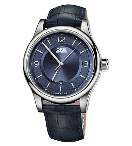 ORIS Classic 01 733 7594 4035-07 5 20 85 stainless steel watch (Blue