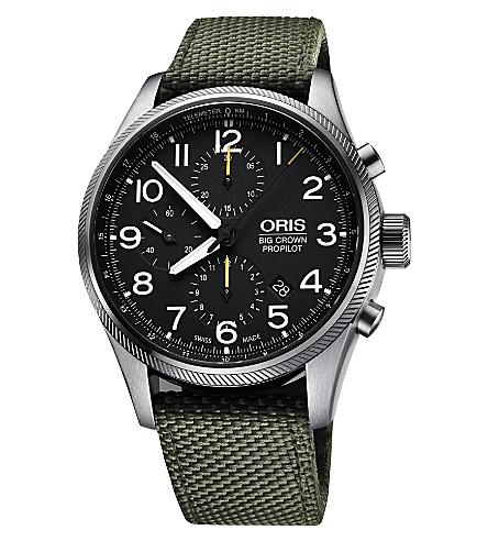 ORIS 4134-07 5 22 14fc Crown ProPilot stainless steel watch (Black