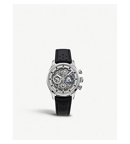 ZENITH 03.2153.400/78.C813 Chronomaster El Primero Full Open leather watch