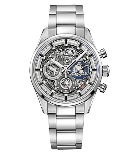 ZENITH 03.2153.400/78.M2150 Chronomaster El Primero Full Open stainless steel watch