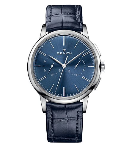ZENITH 032272406951C700 Elite Chronograph classic blue watch