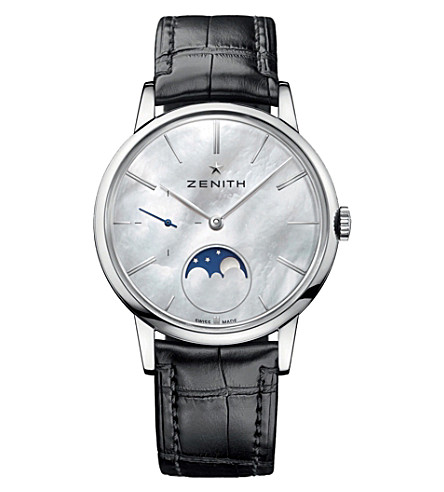 ZENITH 03232069280C714 Elite mother-of-pearl moonphase watch