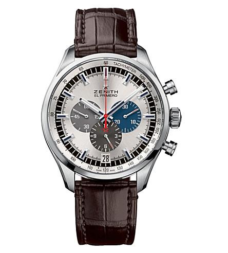 ZENITH 03252040069C713 El primero leather strap watch