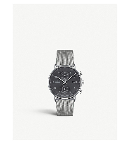 JUNGHANS 041/4877.44 Form C stainless steel chronograph watch