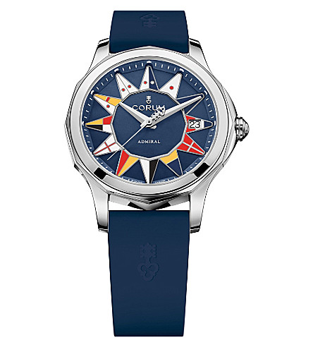 CORUM 082.200.20/0373 Admirals Cup stainless steel and rubber watch