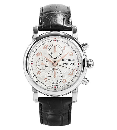 MONTBLANC 110590 Star stainless steel and leather watch