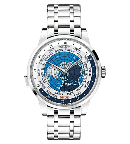MONTBLANC 112308 Heritage spirit stainless steel watch (Blue
