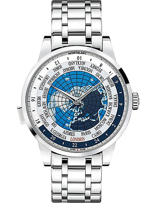 Cheap Latest Montblanc Blue 112308 Heritage Spirit Stainless Steel Watch for Men On Sale Online Sale