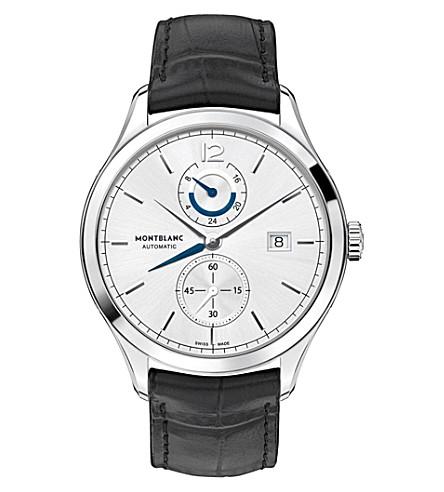 MONTBLANC Heritage Chronométrie 112540 dual time watch (Silver