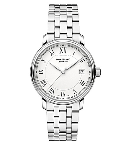 MONTBLANC 112632 Tradition stainless steel watch (White