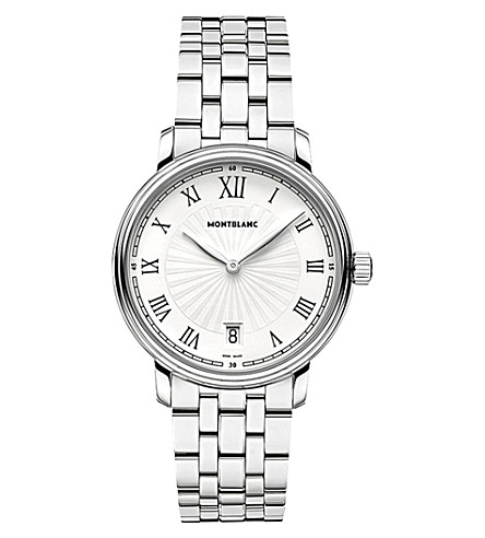 MONTBLANC 112636 Tradition stainless steel watch (White