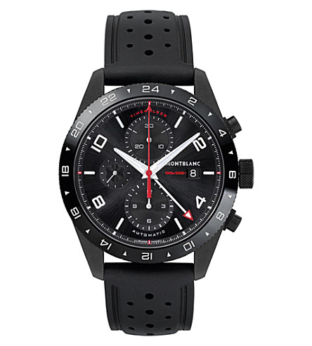 MONTBLANC 116101 TimeWalker stainless steel and rubber chronograph watch