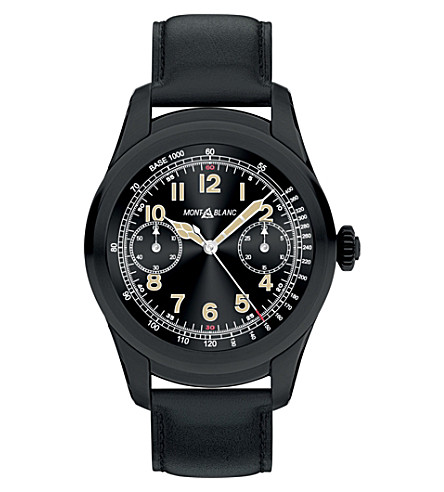 MONTBLANC 117538 Summit PVD stainless steel and leather Smartwatch