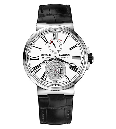 ULYSSE NARDIN 1183-122/40 Marine Tourbillon stainless steel watch