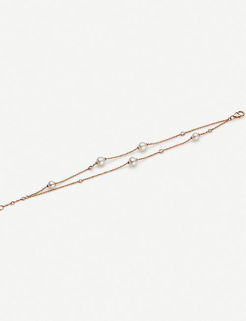 CARL F BUCHERER Mini Pearls diamond and 18ct rose-gold bracelet