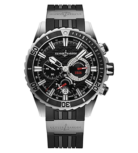ULYSSE NARDIN 1503-151-3/92 海洋潜水员计时不锈钢腕表