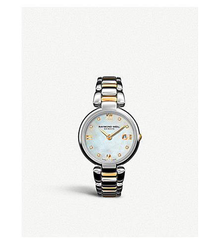 RAYMOND WEIL 1600STP00995 Mother-of-pearl steel & gold watch