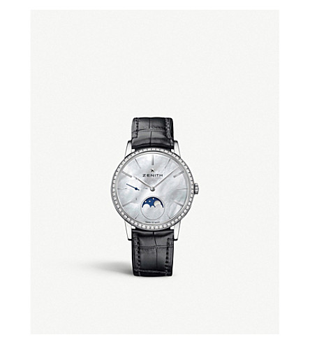 ZENITH 16232069280C714 Elite mother-of-pearl moonphase watch