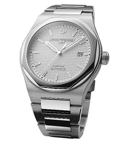 GIRARD-PERREGAUX 81000-11-131-11A Laureato stainless steel automatic watch