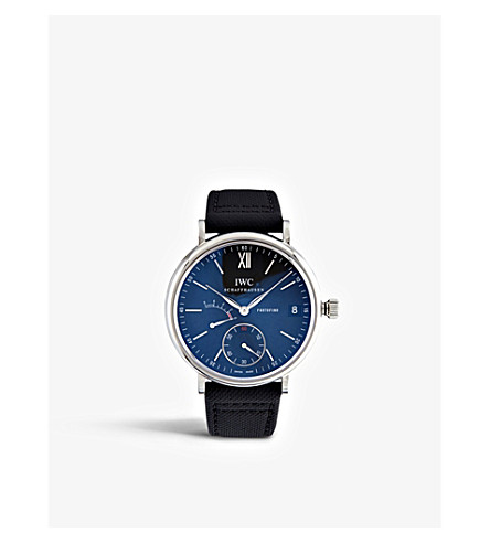 IWC SCHAFFHAUSEN IW510102 portofino leather watch