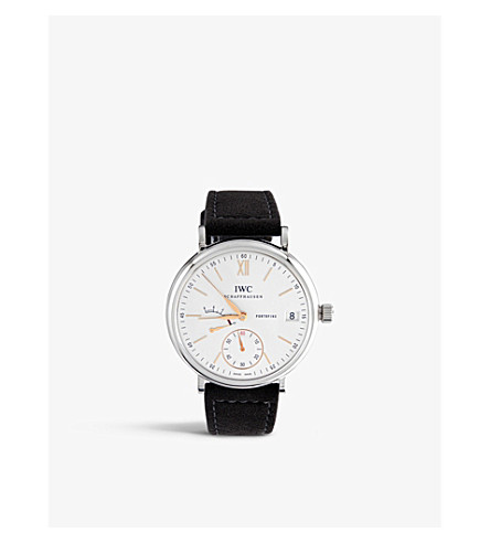 IWC SCHAFFHAUSEN IW510103 portofino leather watch