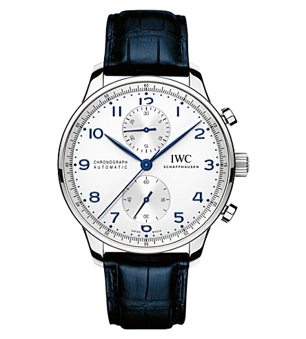 IWC IW371446 portugieser leather watch