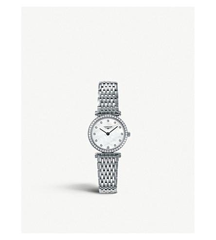 LONGINES 284066 La grande classique stainless steel and diamond watch