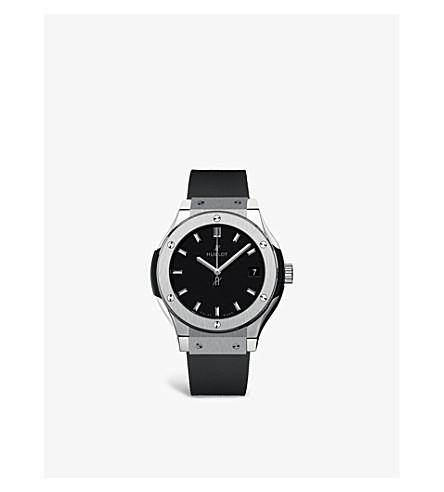 HUBLOT 581.nx.1171.rx classic fusion titanium chronograph watch