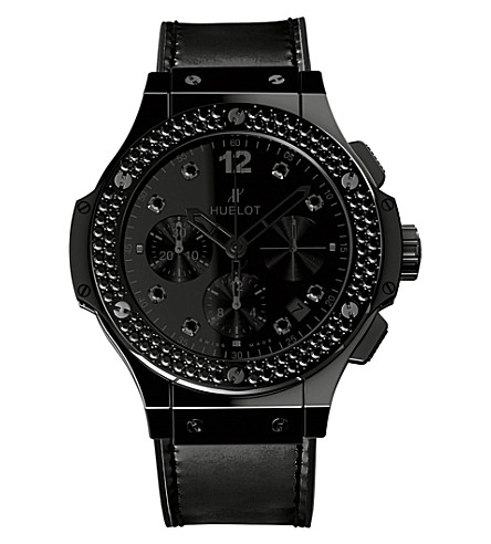 HUBLOT 341.CX.1210.VR.1100 Big Bang Shiny leather and diamond watch