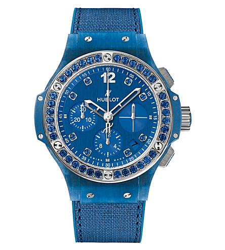 HUBLOT 341.XL.2770.NR.1201 Big Bang Blue Linen sapphire watch