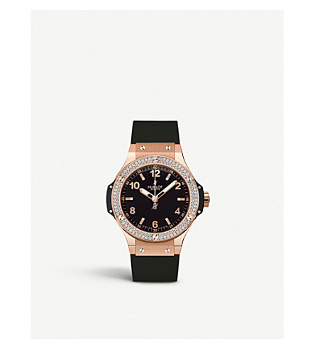 HUBLOT Big Bang 18ct rose-gold and diamond watch