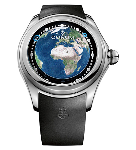 CORUM L390-03257 Big Bubble Magical 52 Earth titanium and rubber watch