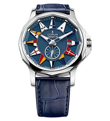 CORUM 395.1012.00/F03AB12Admiral Legend 42 stainless steel and leather automatic watch