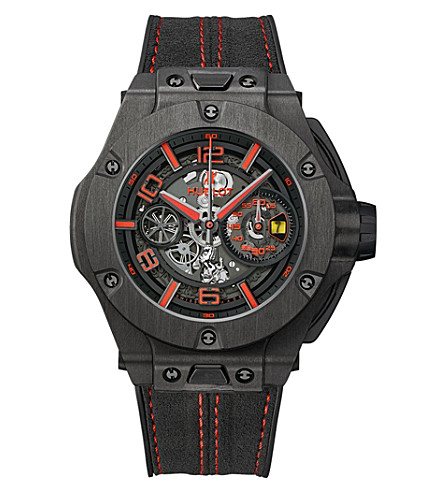 HUBLOT 402.QU.0113.WR Big Bang Ferrari carbon, ceramic and leather watch