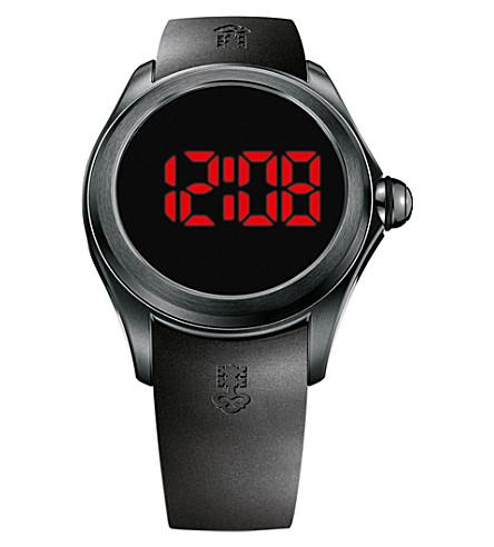 CORUM Black Bubble 47 digital rubber watch