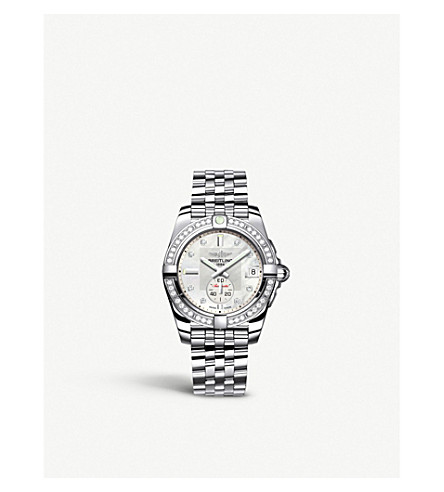BREITLING Galactic 32 diamond and stainless steel watch