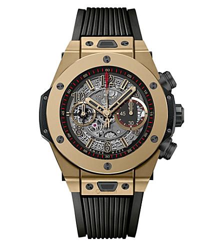 HUBLOT 411.CM.1138.RX Hublot Big Bang Unico Full Magic gold-plated self-winding watch