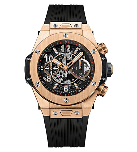 HUBLOT 411.OX.1180.RX Big Bang Unico King 18ct rose-gold and rubber watch
